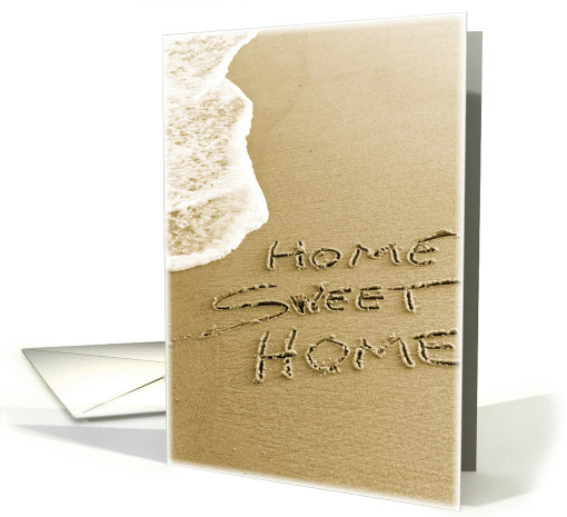 Home Sweet Home Beach Sand Moving Announcement card (36392)