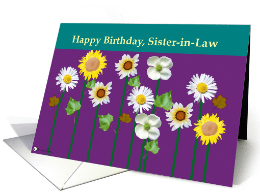 Happy Birthday, Sister-in-law card (123907)