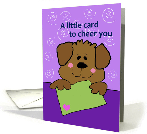 A little card to cheer you - Get Well card (268416)