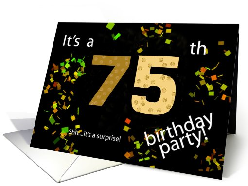 75th Birthday Invitation card (478595)