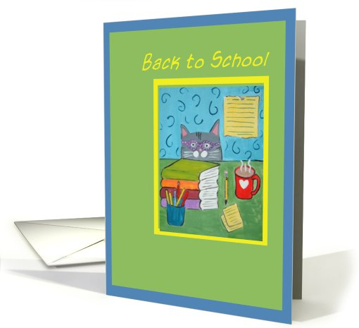 Back to School - Cat card (479101)