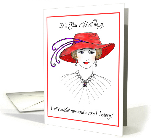 red hat birthday card (85009)
