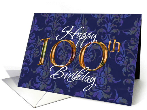 Happy Birthday 100 card (136421)