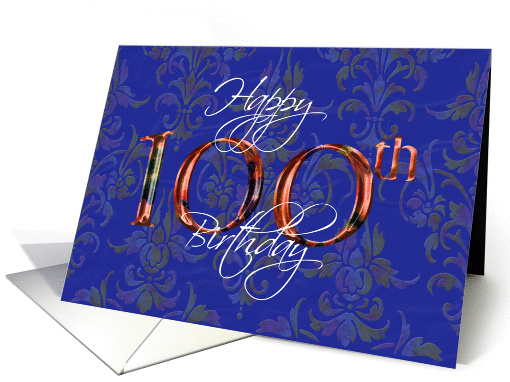 Happy Birthday 100 card (147825)