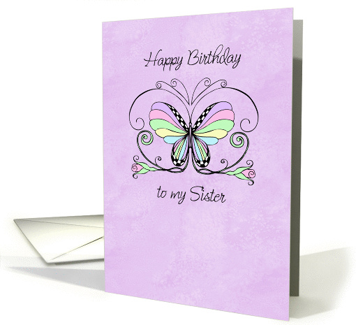 Happy Birthday sister card (207209)