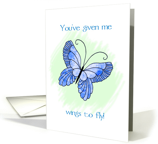 wings to fly card (56667)