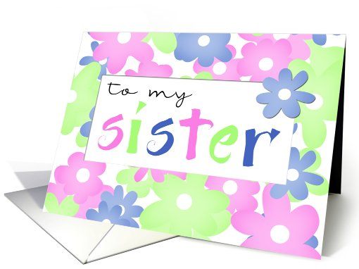sister birthday card (75760)