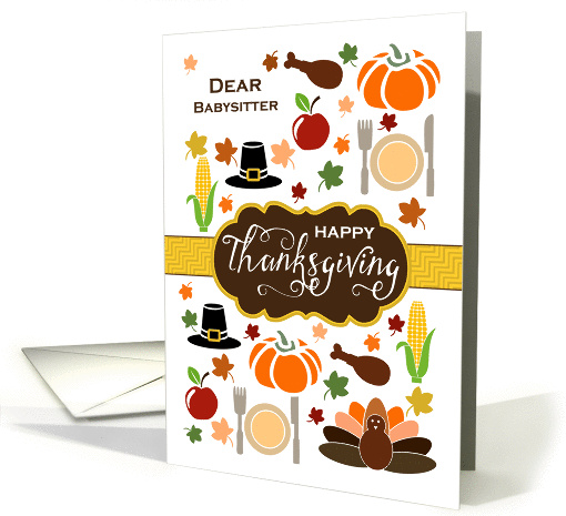 Babysitter - Thanksgiving Icons card (1337958)