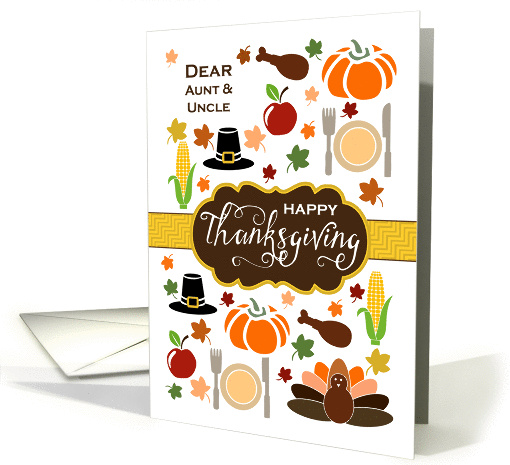 Aunt & Uncle - Thanksgiving Icons card (1337964)