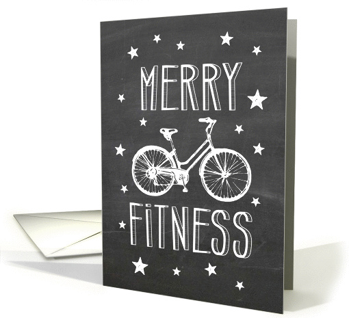 Merry Fitness Holiday Bicycle card (1338944)