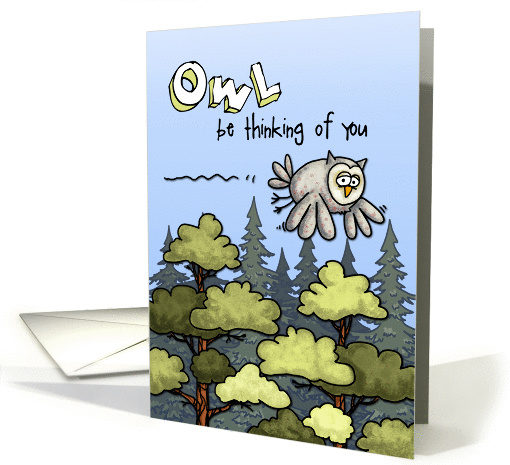 Thinking of you at summer camp - owl card (901154)