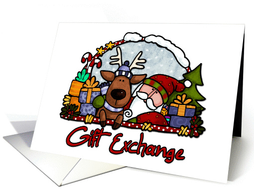 invitation - Gift exchange card (256817)
