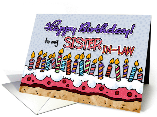 Happy Birthday to my sister-in-law card (381874)