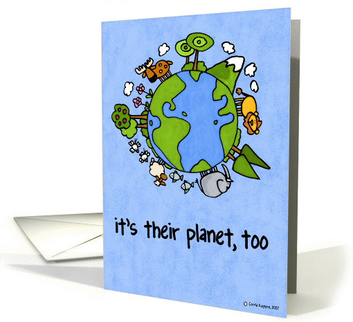 it's their planet, too card (47789)