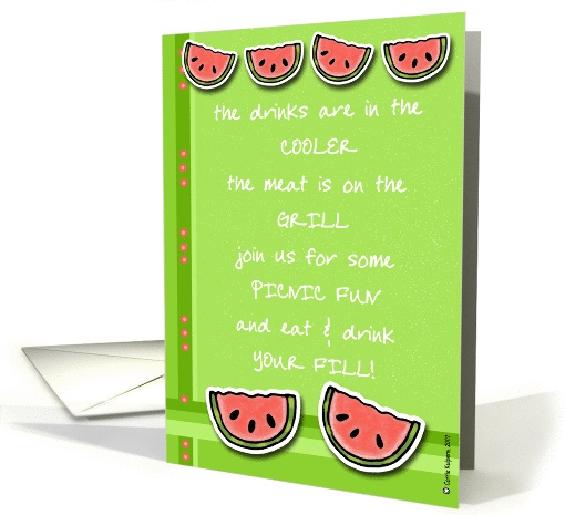 picnic invitation card (58292)