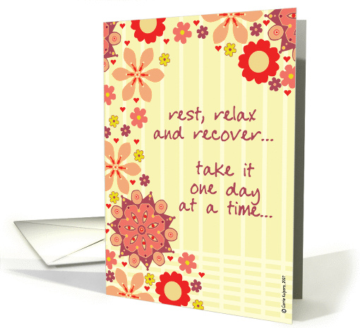 encouragement - rest, relax & recover card (60249)