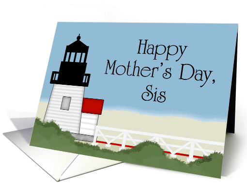 Happy Mother's Day to my Sis-Beach Lighthouse card (1074660)
