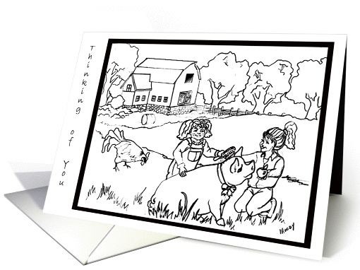 Children's Coloring Card Thinking of You card (131073)