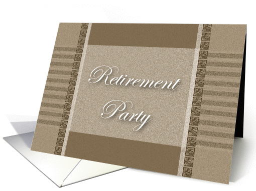 Retirement Party Invitation card (166578)