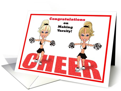 Congratulations on Making The Varsity Squad Cheerleading  Paper card