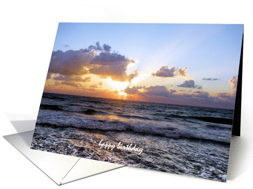 Sunset on Waves Birthday Cards Paper card (433666)