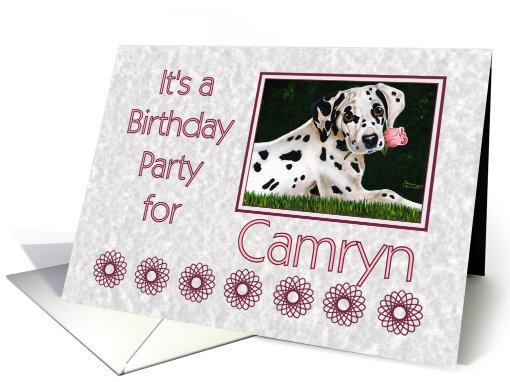Birthday party invitation for Camryn - Dalmatian puppy dog... (657901)