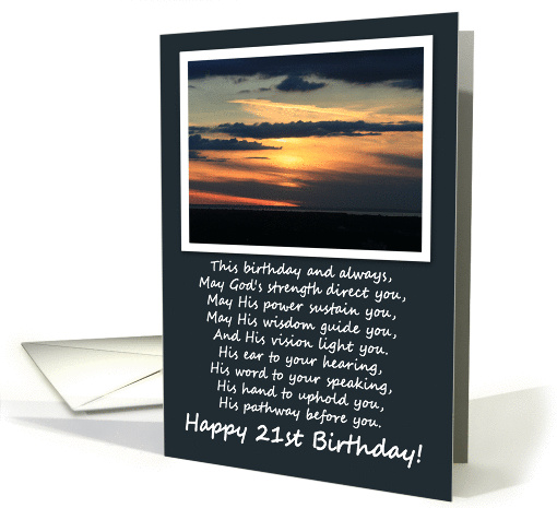 Religious 21st Birthday card (357823)