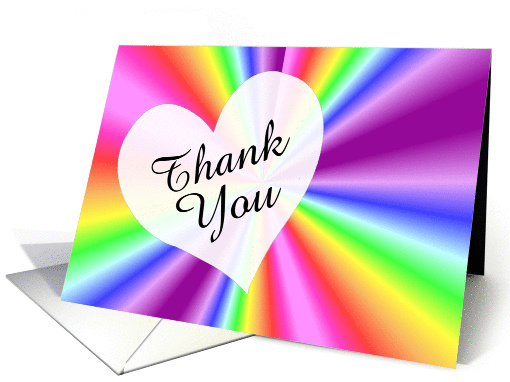 Rainbow Thank You card (135645)