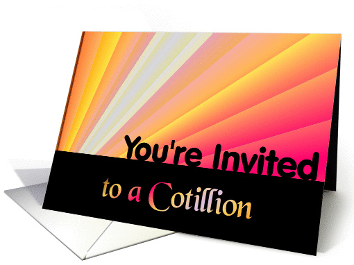 You're Invited to a Cotillion card (388635)