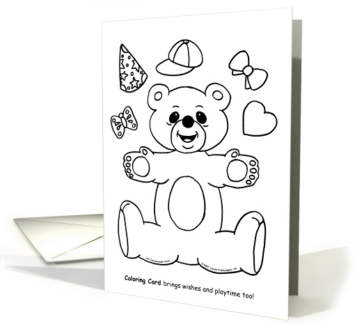 Get Well Coloring card (90703)