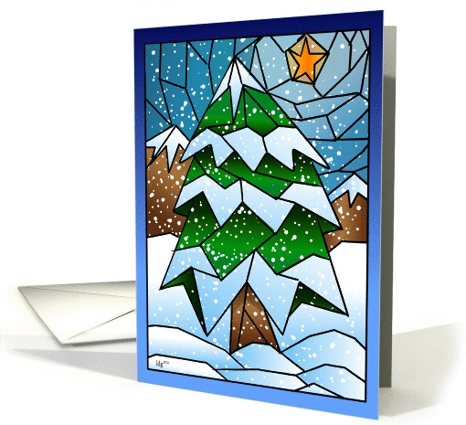 Stained Glass Christmas Tree card (862719)