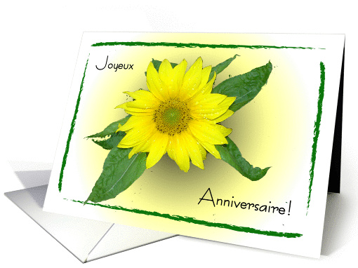 Sunflower Happy B-Day in French card (208434)