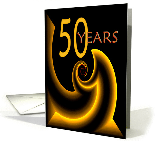 50 Years Gold Twist card (133778)