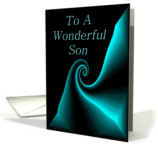 To A Wonderful Son card (80318)