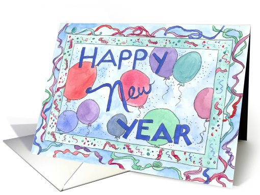 Happy New Year Celebration card (110267)