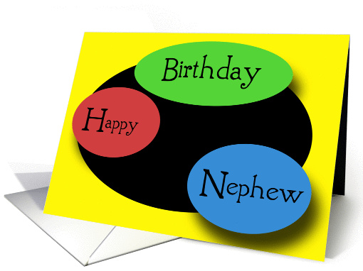 Happy Birthday Nephew card (132708)