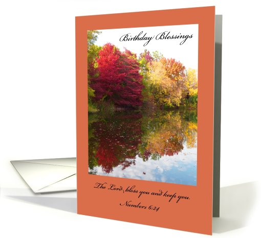 Christian Birthday Card -- Numbers 6:24 card (457779)