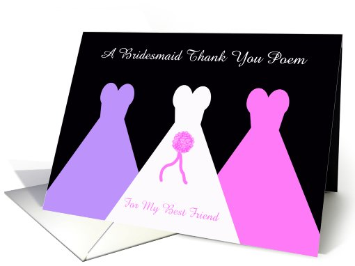 Best Friend Bridesmaid Thank You Card -- Bridesmaid Thank... (468983)