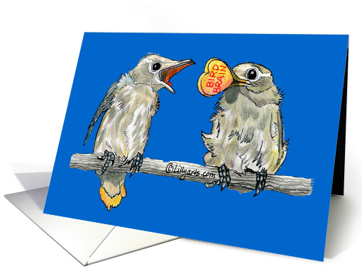 Bird Brain Father's Day card (202511)
