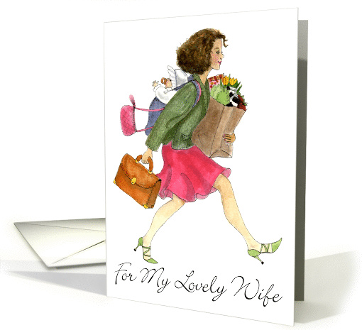 Dashing, Wife, Mother's Day card (383974)