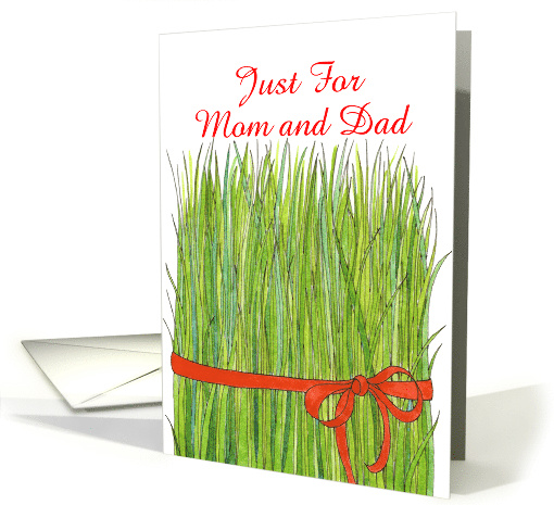 Norooz, Wheat Grass for Parents card (908080)