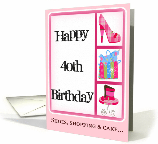 40th Birthday Card for Women card (386828)