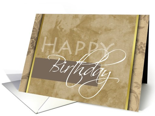 Happy Birthday card (100762)