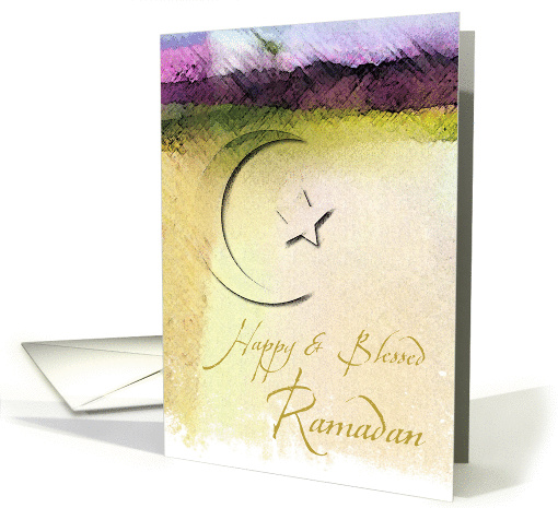 Painted Ramadan card (227457)