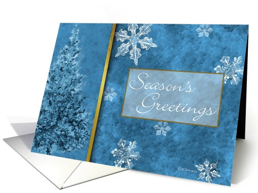 Snow FlakesChristmas card (235658)