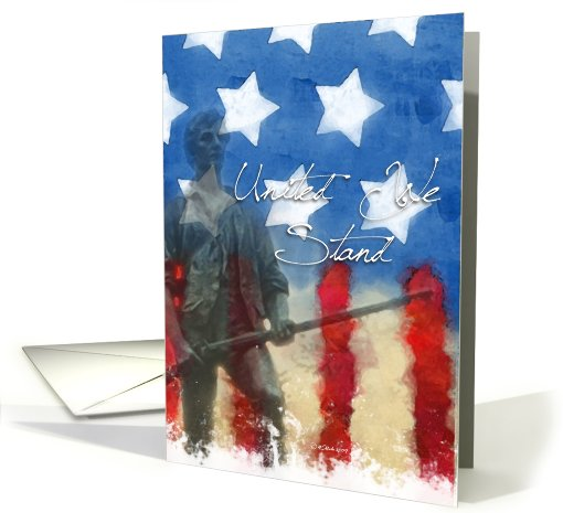 United We Stand Minuteman Memorial Day card (422652)