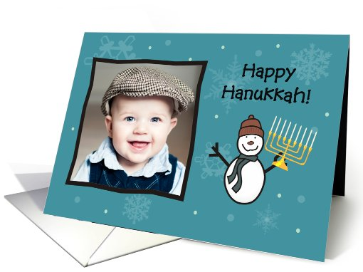 Hanukkah Snowman - Photo card (853357)
