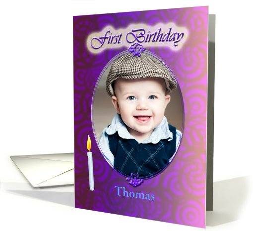 First Birthday Photo card (854194)