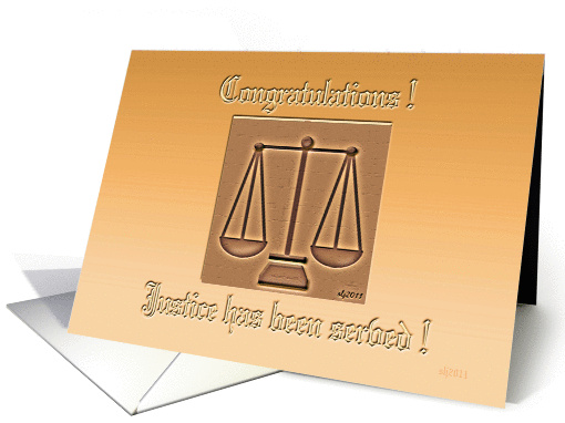 Law Partner Congratulations card (782034)