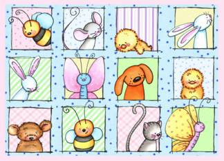 Animals / Pets card: Easter Critters Card